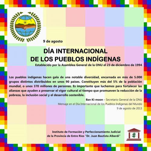 9 de agosto de 2014- Conmemoración del Día Internacional de los Pueblos Indígenas