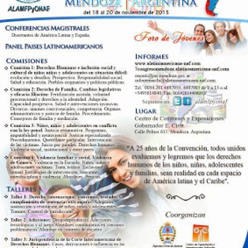 VII Congreso Latinoamericano de Niñez, Adolescencia y Familia – Mendoza. Argentina