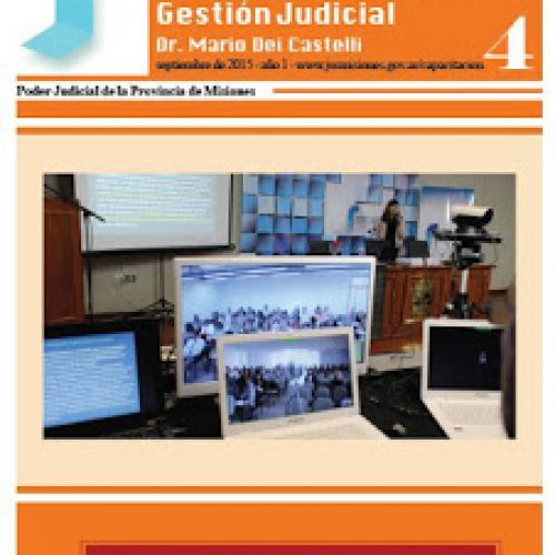 Boletín resumen de actividades agosto 2015 del Centro de Capacitación y Gestión Judicial de Misiones