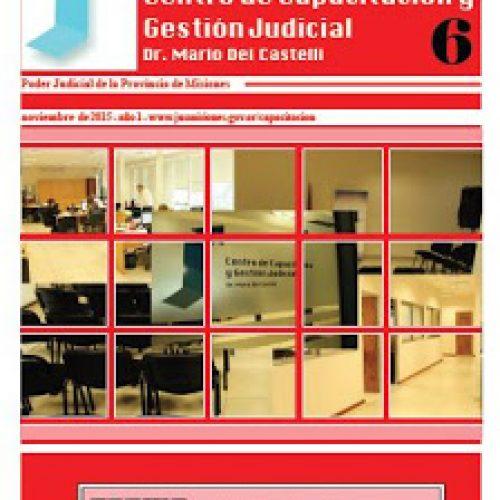 Boletín de Actividades octubre 2015 Centro de Capacitación y Gestión Judicial de Misiones