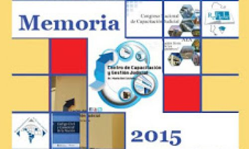 El Centro de Capacitación y Gestión Judicial de la Provincia de Misiones presenta la Memoria 2015