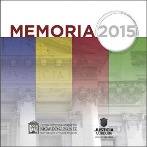 """Memoria 2015 y Plan de Actividades 2016 del Centro de Perfeccionamiento """"Ricardo C. Núñez"""""""