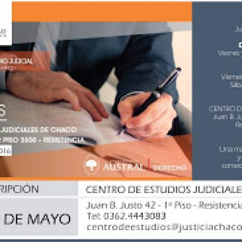 Próximas Actividades del Centro de Estudios Judiciales del Poder Judicial del CHACO