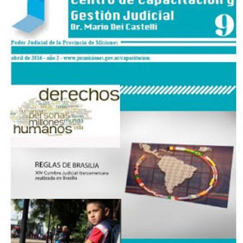 Disponible Boletín N°9 correspondientes a las actividades del mes de Marzo del Centro de Capacitación y Gestión Judicial de Misiones