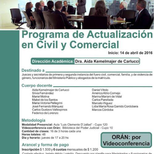 Programa de Actualización en Civil y Comercial
