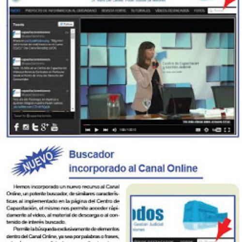 """Buscador de contenidos en el Canal On line """"Justicia de Todos"""""""