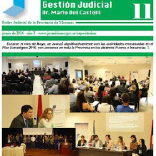 Disponible Boletín N°11 correspondientes a las actividades del mes de mayo del Centro de Capacitación y Gestión Judicial de Misiones