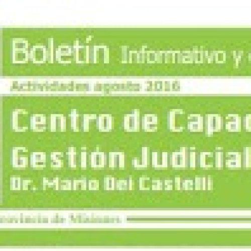Boletín informativo y de divulgación N°13 del Centro de Capacitación y Gestión Judicial de Misiones