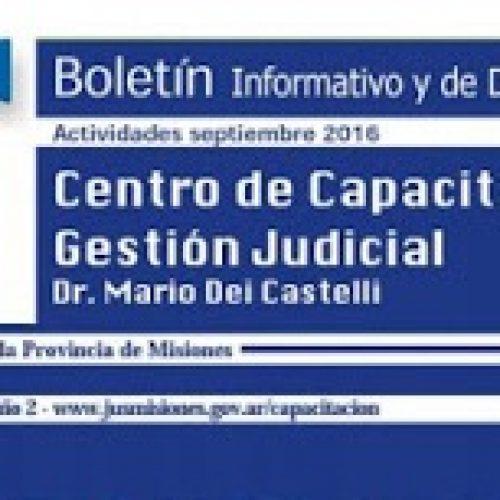 Boletín informativo y de divulgación N°14 del Centro de Capacitación y Gestión Judicial de Misiones