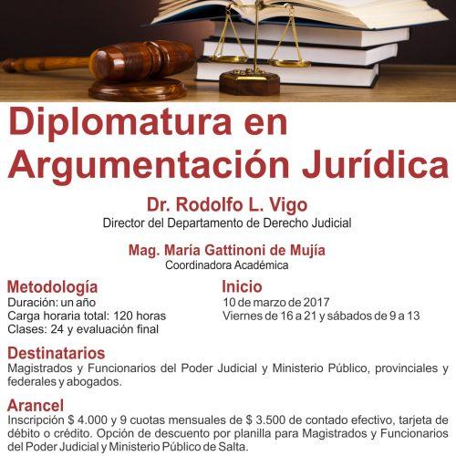 Salta: Inscriben para postgrado en Argumentación Jurídica en Salta