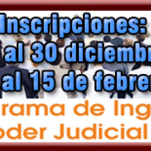 Salta: Programa de Ingreso al Poder Judicial de Salta: últimos días de inscripción