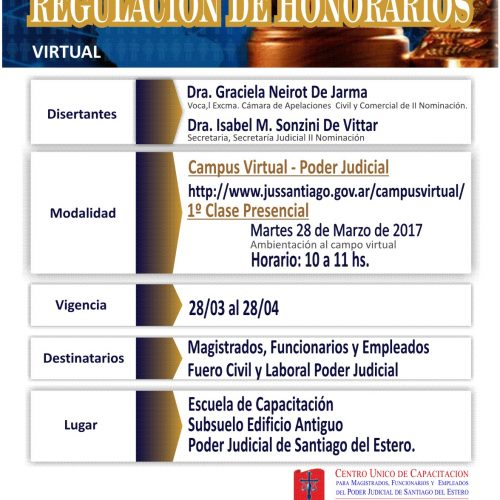 """Santiago del Estero: Curso – Taller """"Regulación de Honorarios"""""""