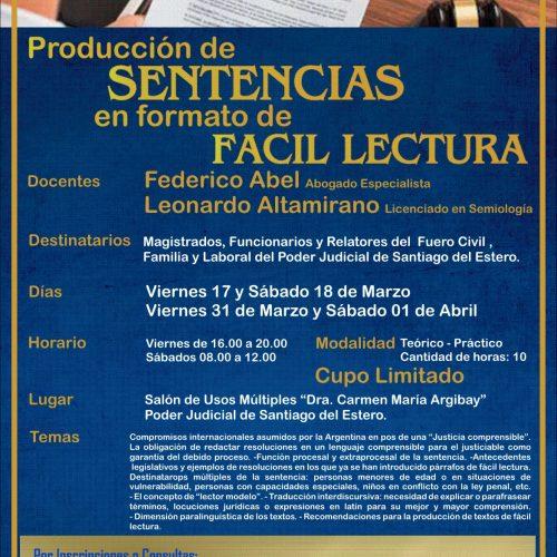 Santiago del Estero: curso sobre Producción de Sentencias en Formato de Fácil Lectura