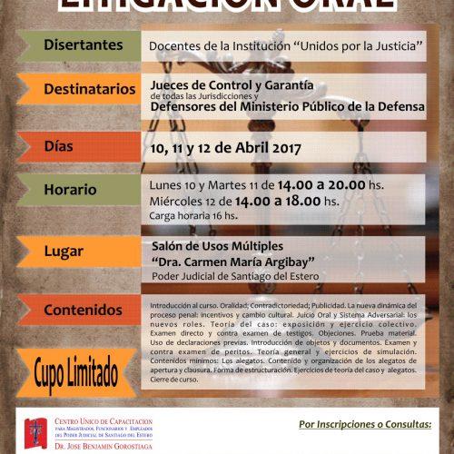 Santiago del Estero: Programa Intensivo en Litigación Oral