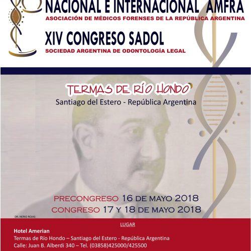 SANTIAGO DEL ESTERO – XXXIX CONGRESO NACIONAL E INTERNACIONAL AMFRA Y XIV CONGRESO SADOL