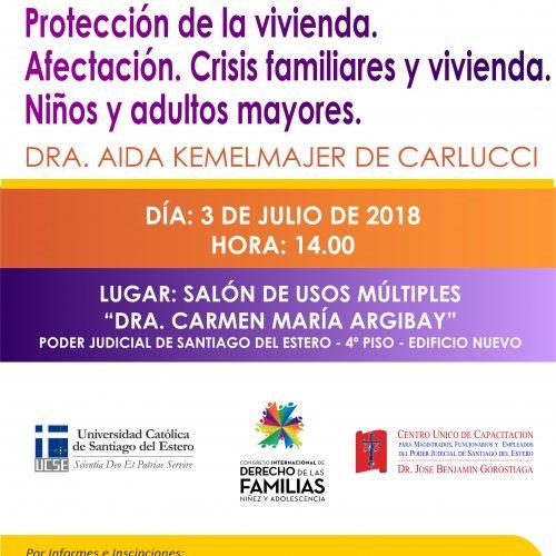 SANTIAGO DEL ESTERO – JORNADA PREPARATORIA CONGRESO INTERNACIONAL DE DERECHO DE LAS FAMILIAS, NIÑEZ Y ADOLESCENCIA
