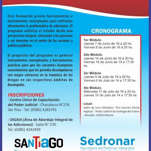 SANTIAGO DEL ESTERRO – Programa de capacitación judicial en Políticas sobre Drogas y Problemas del Consumo