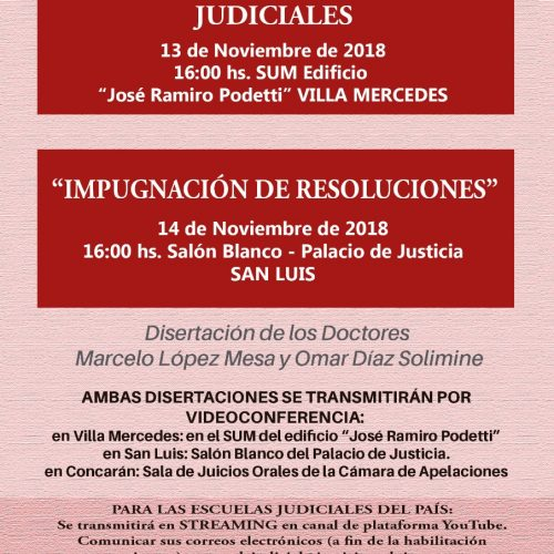 """CURSO TALLER """"REDACCIÓN DE SENTENCIAS JUDICIALES E IMPUGNACIÓN DE RESOLUCIONES"""""""