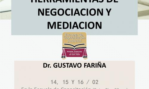 San Juan: TEORIA, TECNICAS Y HERRAMIENTAS DE NEGOCIACION Y MEDIACION
