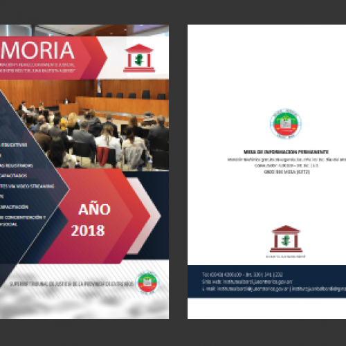 "Memoria de actividades 2018 – Instituto ""Dr. Juan Bautista Alberdi"" – Entre Ríos"