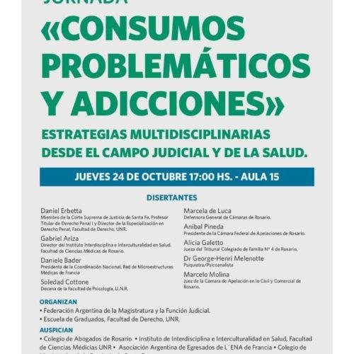 Jornada CONSUMOS PROBLEMÁTICOS Y ADICCIONES