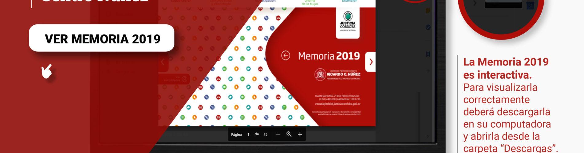 Memoria 2019 del Centro Núñez