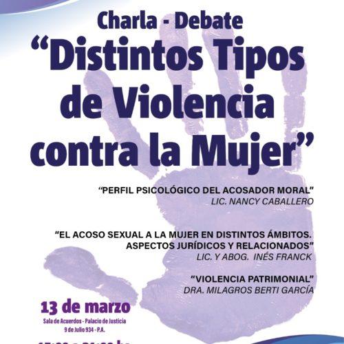 Charla – Debate Distintos Tipos de Violencia contra la Mujer
