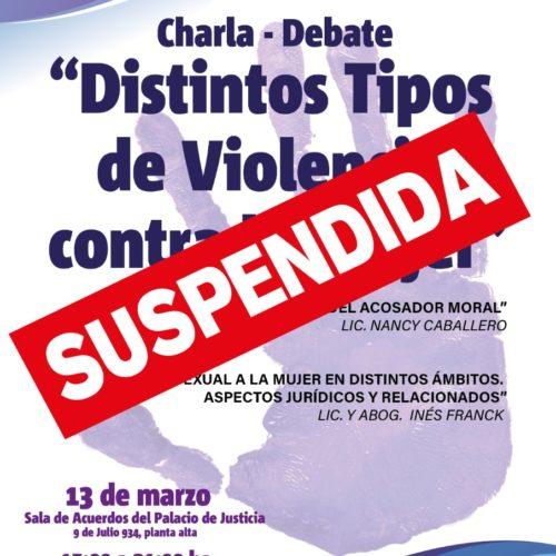 SUSPENDIDO – Charla – Debate Distintos Tipos de Violencia contra la Mujer