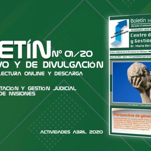 Boletín informativo y de divulgación del Centro de Capacitación y Gestión Judicial de Misiones