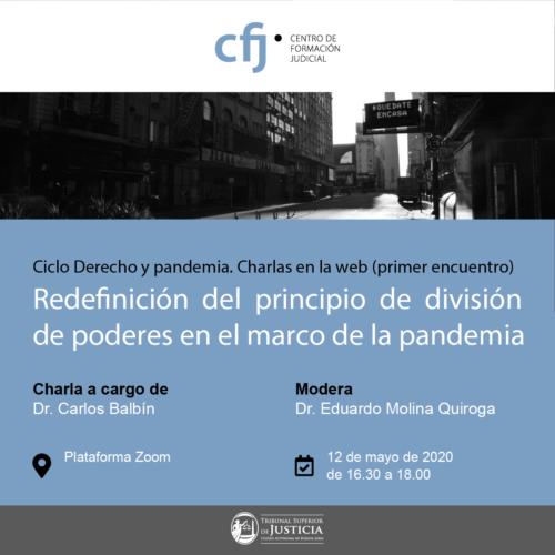 SE REALIZO EL PRIMER CONVERSATORIO DE LA ACTIVIDAD DERECHO Y PANDEMIA. CICLO DE CHARLAS EN LA WEB