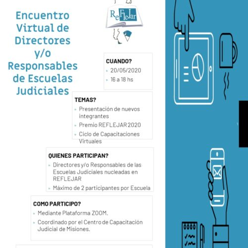 Encuentro Virtual de Directores y Responsables de Escuelas Judiciales