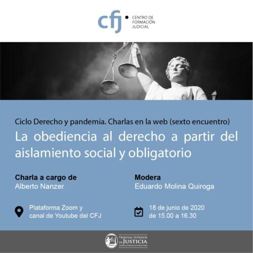 Ciclo de Derecho y Pandemia (sexto encuentro)