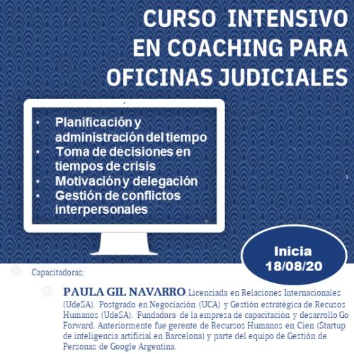 CURSO INTENSIVO EN COACHING PARA OFICINAS JUDICIALES