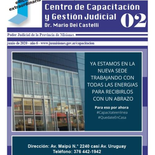 Boletín informativo y de difusión del Centro De Capacitación y Gestión Judicial de Misiones