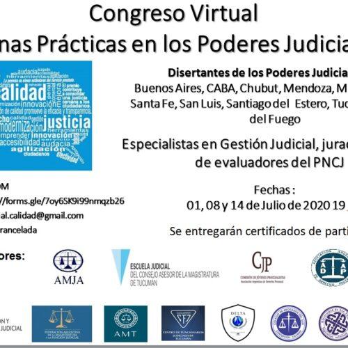 """Congreso Virtual """"Buenas prácticas en los Poderes Judiciales"""""""