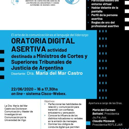"""Videoconferencia ORATORIA DIGITAL ASERTIVA """"El arte de la comunicación es el lenguaje del liderazgo"""""""
