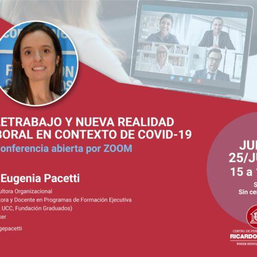 Conferencia: Teletrabajo y nueva realidad laboral en el contexto de Covid-19