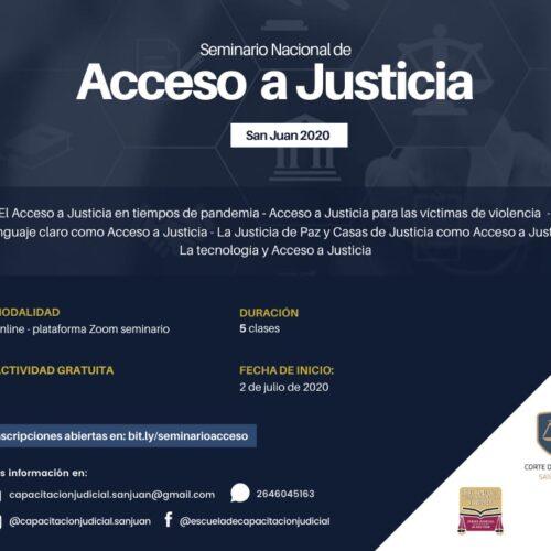 Seminario Nacional de Acceso a Justicia