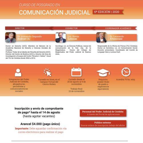 """Curso en Posgrado: Comunicación Judicial. Centro de Perfeccionamiento """"Ricardo C. Núñez"""""""