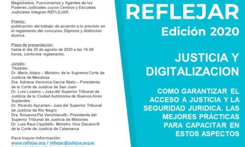 PREMIO REFLEJAR 2020: Prórroga y modificación de Reglamento