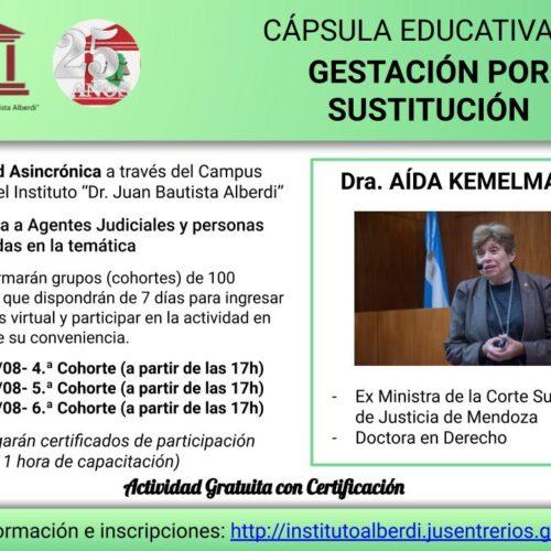 """CÁPSULA EDUCATIVA 02: Gestación por Sustitución – Instituto """"Dr. Juan Bautista Alberdi"""" (Entre Ríos)"""