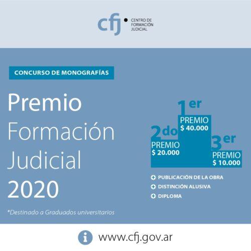 Premio Formación Judicial 2020