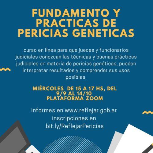 """Curso: """"Fundamento y Prácticas de Pericias Genéticas"""""""