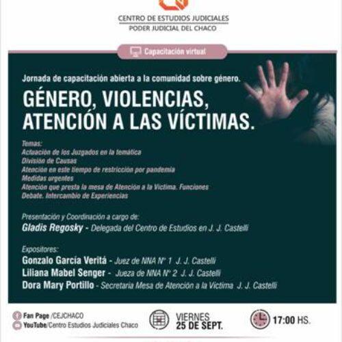 """Jornada """"Género, Violencias, atención a las víctimas"""" – Centro de Estudios Judiciales del Chaco"""