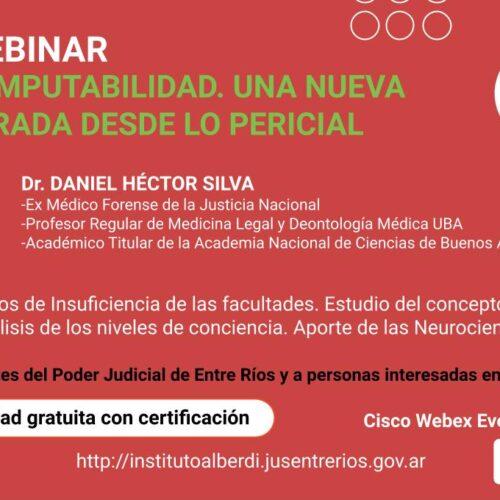 """WEBINAR """"INIMPUTABILIDAD. UNA NUEVA MIRADA DESDE LO PERICIAL"""" – Instituto """"Dr. Juan Bautista Alberdi"""" (Entre Ríos)"""