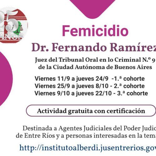 """CÁPSULA EDUCATIVA 05: FEMICIDIO – Instituto """"Dr. Juan Bautista Alberdi"""" (Entre Ríos)"""