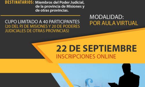 Curso de Capacitadores Judiciales – Edición 2020