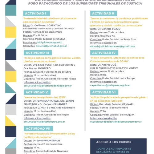 Programa Patagónico de Capacitación Judicial 2020