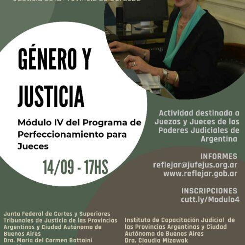 """Módulo IV """"Género y Justicia""""- Programa de Perfeccionamiento para Jueces"""