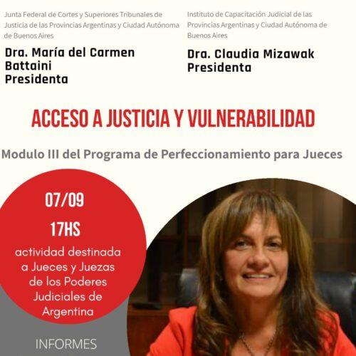 """Programa de Perfeccionamiento para Jueces: Módulo III """"Acceso a Justicia y vulnerabilidad """""""